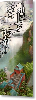 Metal Print featuring the painting Wudangshan by Dave Platford