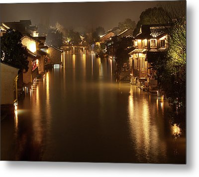 Wuzhen - Venice Of The Far East Metal Print by Andrew Soundarajan