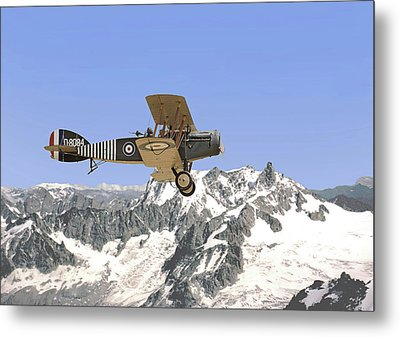 Metal Print featuring the photograph Ww1 - Bristol Fighter by Pat Speirs
