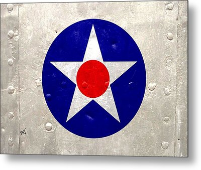 Ww2 Army Air Corp Insignia Metal Print by John Wills