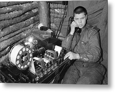 Ww2 Artillery Detection Equipment, 1944 Metal Print by Ria Novosti