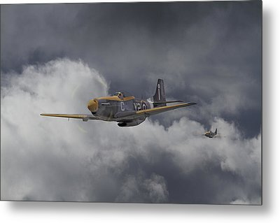 Ww2 - P-51 - I Think We-re Lost Metal Print by Pat Speirs