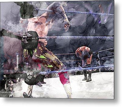 Wwe Wrestling 111 Metal Print by Jani Heinonen