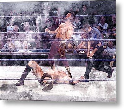 Wwe Wrestling 200 Metal Print