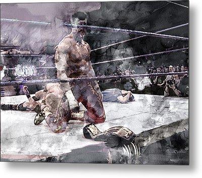 Wwe Wrestling 209 Metal Print by Jani Heinonen