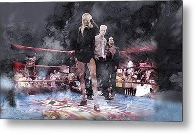 Wwe Wrestling 21 Metal Print by Jani Heinonen