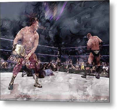 Wwe Wrestling 301 Metal Print by Jani Heinonen