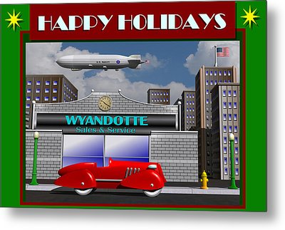 Wyandotte Happy Holidays Metal Print by Stuart Swartz