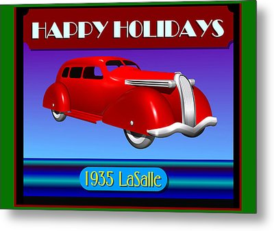 Wyandotte Lasalle Happy Holidays Metal Print by Stuart Swartz