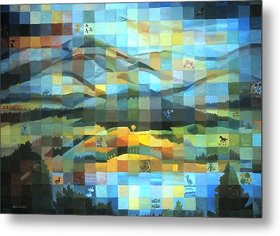 Metal Print featuring the painting Wyoming Quilt by Dawn Senior-Trask