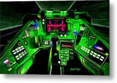 X-wing Cockpit - Da Metal Print