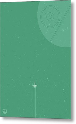 X-wing Meets Death Star Metal Print by Samuel Whitton