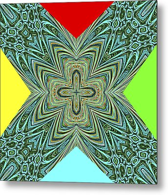 X With Colors Metal Print by Susan Leggett