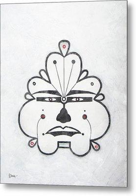 Xanadu Tribal Face Metal Print by Roly Orihuela