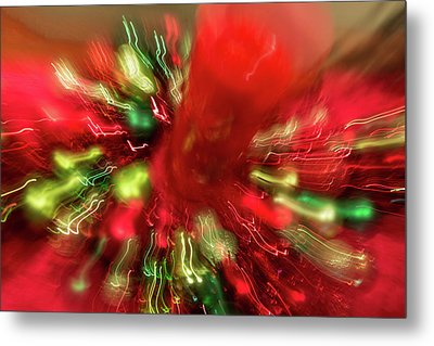 Metal Print featuring the photograph Xmas Burst 2 by Rebecca Cozart