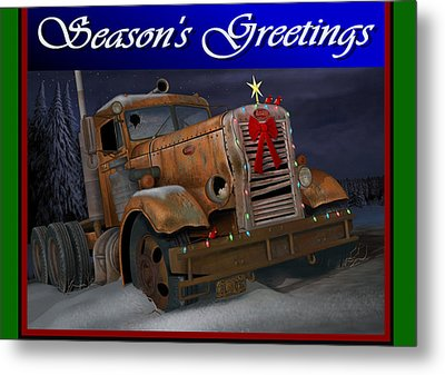 Xmas Pete Card Metal Print by Stuart Swartz