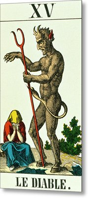 Xv The Devil   Tarot Card Metal Print