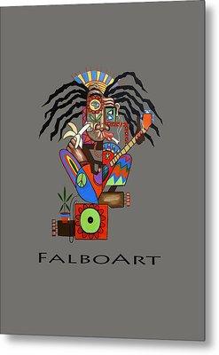 Ya Man 2 No Steel Drums Metal Print by Anthony Falbo