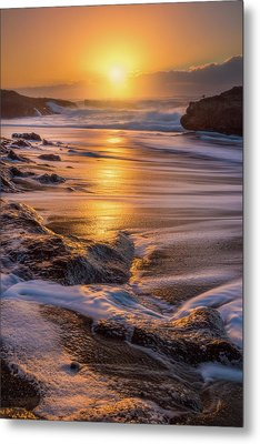 Metal Print featuring the photograph Yachats' Sun by Darren White