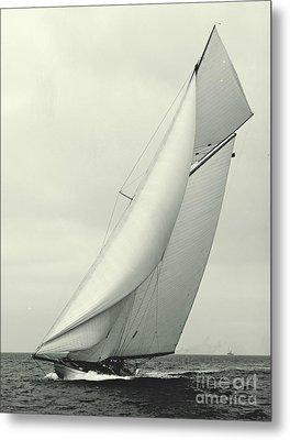 Yacht Columbia 1901 Metal Print by Padre Art