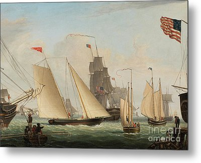 Yacht Northern Light In Boston Harbor Metal Print