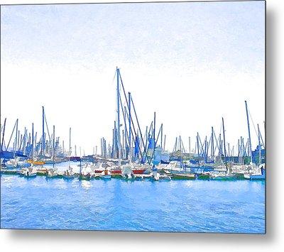 Yachts Simon Metal Print by Jan Hattingh