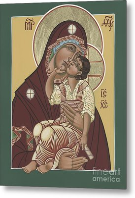 Metal Print featuring the painting Yakhrom Icon Of The Mother Of God 258 by William Hart McNichols