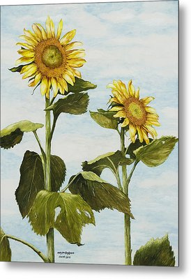 Yana's Sunflowers Metal Print