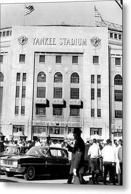 Yankee Stadium, Fans Arrive To Watch Metal Print