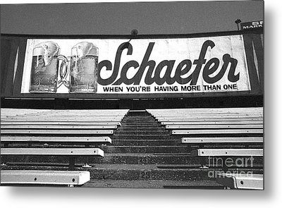 Yankee Stadium-final Day In The Bleachers Metal Print by Ross Lewis