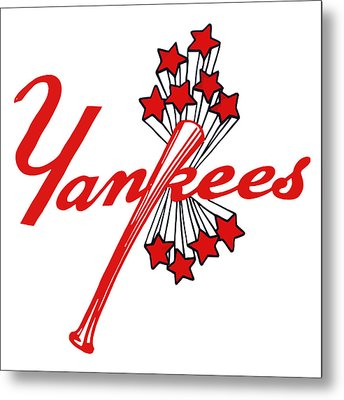 Metal Print featuring the digital art Yankees Vintage by Gina Dsgn