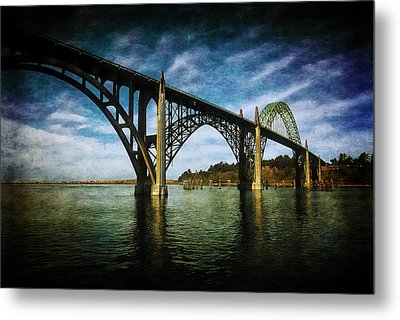 Yaquina Bay Bridge From South Beach Metal Print