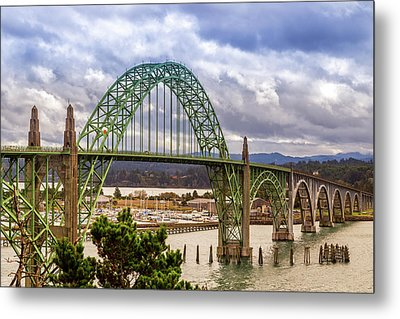 Metal Print featuring the photograph Yaquina Bay Bridge by James Eddy