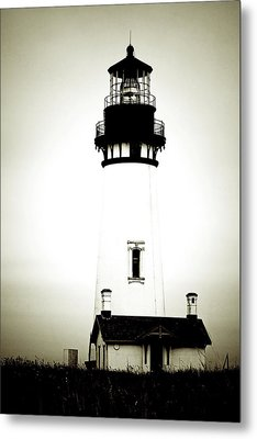Yaquina Head Light - Haunted Oregon Lighthouse Metal Print by Christine Till