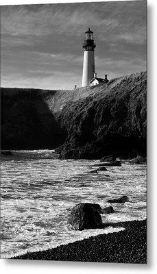 Yaquina Head Lighthouse Metal Print by Lara Ellis