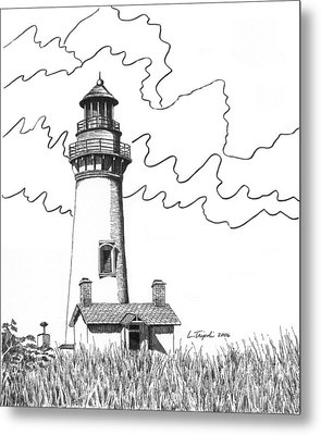 Yaquina Head Lighthouse Metal Print by Lawrence Tripoli