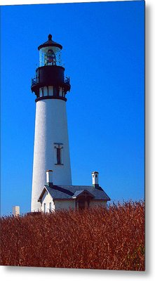 Yaquina Head Lighthouse Metal Print by Margaret Hood