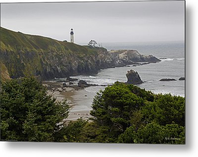 Yaquina Head Lighthouse View Metal Print