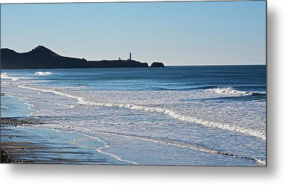 Yaquina Lighthouse And The Pacific Metal Print