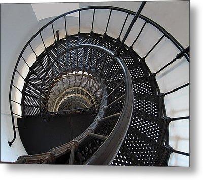 Yaquina Lighthouse Stairway Nautilus - Oregon State Coast Metal Print by Daniel Hagerman