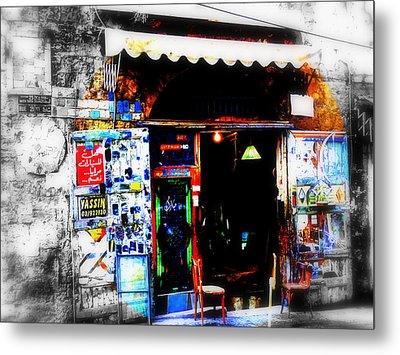 Yassin Glass Maker In Beirut Metal Print by Funkpix Photo Hunter