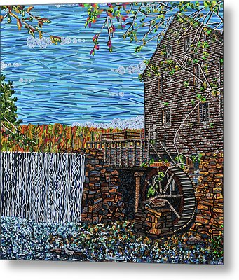 Yates Mill Metal Print by Micah Mullen