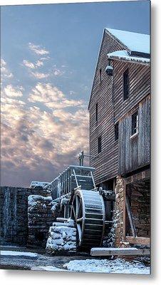Yates Mill. Winter Sunset Metal Print