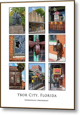 Ybor City Poster Metal Print by Stephanie Hayes