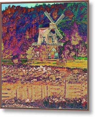 Ye Old Windmill Metal Print by Russ Mullen