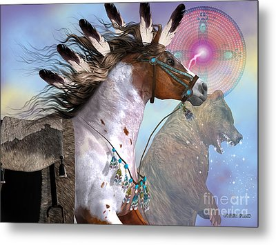 Year Of The Bear Horse Metal Print by Corey Ford