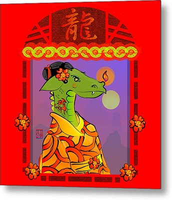 Year Of The Dragon Metal Print by LD Gonzalez
