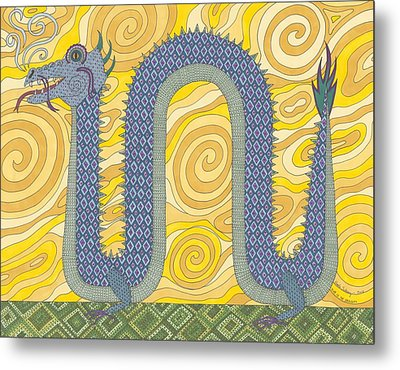 Year Of The Dragon Metal Print by Pamela Schiermeyer