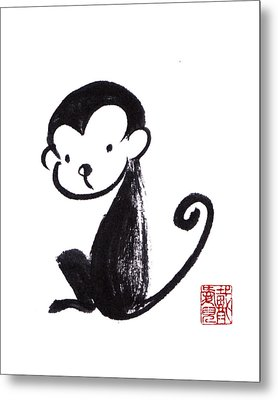 Year Of The Monkey Metal Print by Oiyee At Oystudio