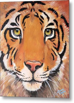 Year Of The Tiger Metal Print by Laura Carey